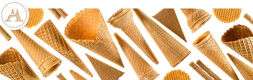Anselli - coni, cialde e biscotti in vari formati